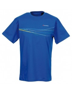 TECNIFIBRE Camiseta Cotton Polo Azul