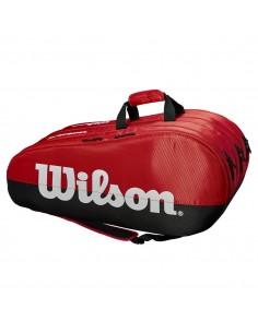 Raquetero de tenis Wilson Team COMP 3 (Rojo/Negro)
