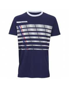 Camiseta Tecnifibre F2 Navy Blanc Junior
