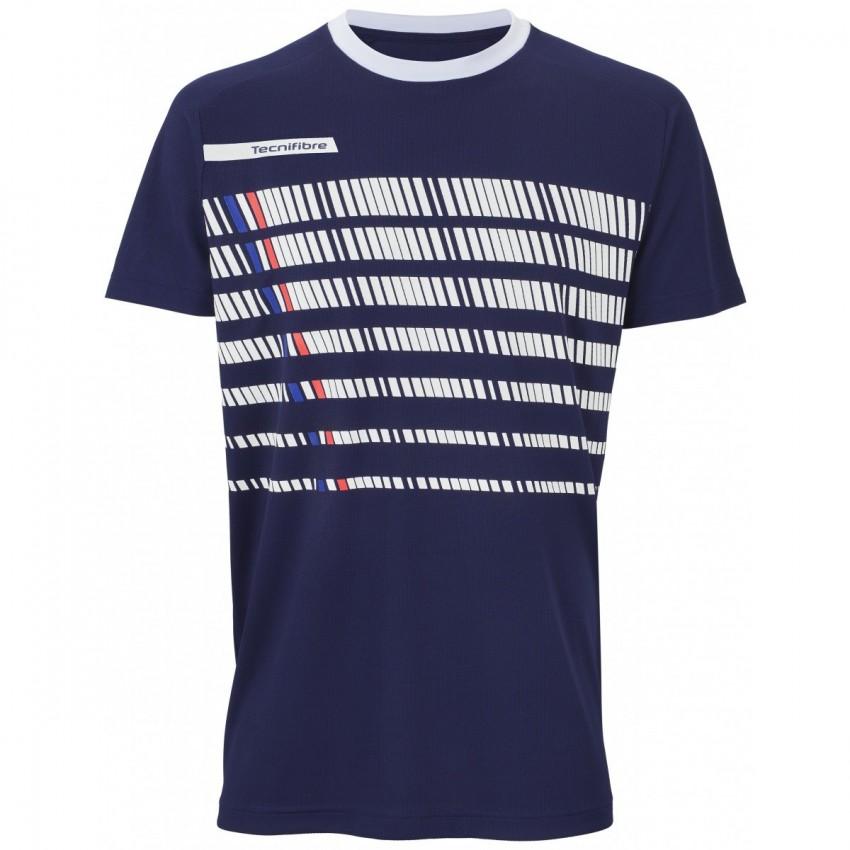 Camiseta Tecnifibre F2 Navy Blanc Junior