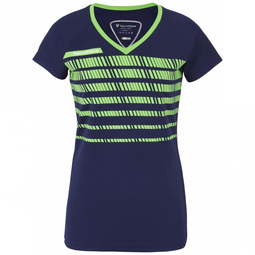 Camiseta Tecnifibre F2 Navy Green Lady